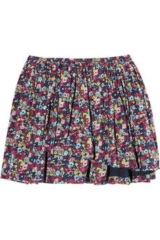 Girl. by Band of Outsiders|Gathered floral-print cotton mini skirt|NET-A-PORTER.COM - StyleSays