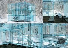 UNIVERS CREATIFS: Maisons insolites : Des maisons de verre.