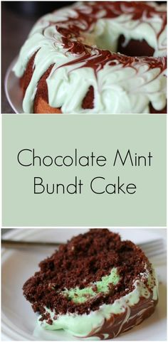 Sweet Sundays: Chocolate Mint Bundt Cake - Plain Vanilla Mom
