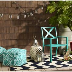 Threshold™ Outdoor Fabric Pouf $40 Target  Chair 2 for $100 Target