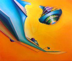 Winged cam, 2013, olio e acrilico su tela, 102X118 cm - Ignazio Mazzeo #art #painting #ignaziomazzeo #colours #nature