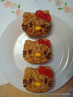 OMG!!! This is way too adorable!!~ hello kitty peanut butter rice krispie treats