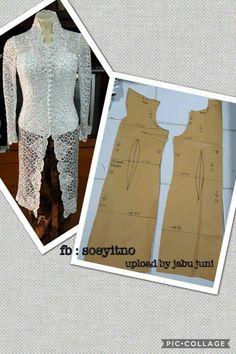 70 ideas sewing patterns blouse design for 2019 Designer Blouse Patterns, Dress Patterns, Blouse Designs, Kebaya Lace, Kebaya Dress, Pola Kebaya Kutubaru, Kebaya Simple, Indonesian Kebaya, Model Kebaya