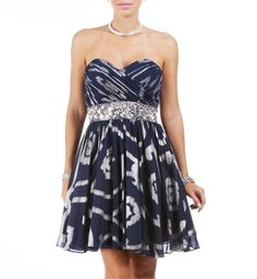 Noreen-Navy/Silver Homecoming Dress