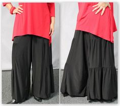 3x New style of Tiered wide legged pants to go with many of the Dre2bStylish tops and tunics. Style and comfort is the theme.Great for outdoors, Travel in