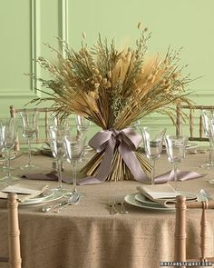 wheat sheaf non floral wedding planner...I'm thinking that a mixture of this and flowers would be pretty, just not as full