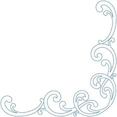 Fancy Page Border Designs   Design #11, Combo, Corner, bean (5-pass)