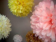 Custom Colors  10 tissue paper poms // wedding by PomLove on Etsy, $35.00