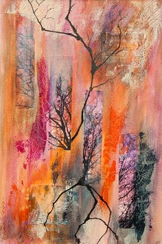 "Mixed media painting ""Branched"" by Fenfolio"