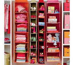 Kids' Storage Containers: Kids Colorful Canvas Hanging Closet Storage