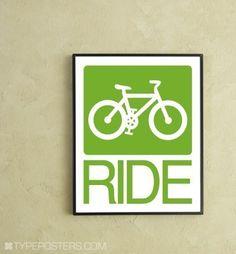 Bike Ride Digital Print by TypePosters on Etsy, $15.00