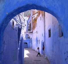 The labyrinthine alleys of Chefchaouen, Morocco