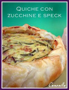 quiche con zucchine, speck e parmigiano       #recipe #juliesoissons