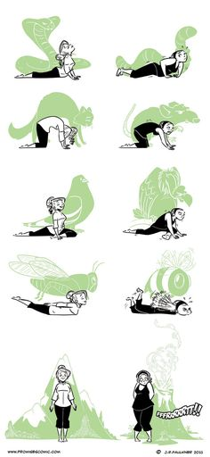 Eruption Disruption - Yoga Print. The difference between ME and my GYM TEACHER. *shakes fists at ceiling* dammit Mikalek!