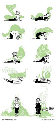 Me doing yoga...