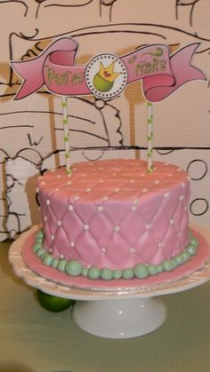 Princess and the Pea Birthday Party cake!  See more party ideas at CatchMyParty.com!