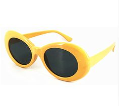 313bd6f962 Clout Goggles Rapper Glasses Sunglasses Fancy Dress YELLOW Oval Shades  Grunge