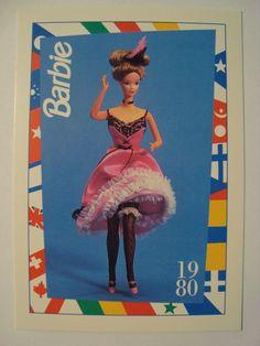Barbie Trading Card 1980 DOTW 034 Parisian Barbie 034 Paris France | eBay