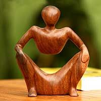"...wood sculpture ""Abstract Sitting"" OMG!!! Thought of Henry Moore in a way...Love Love this..."