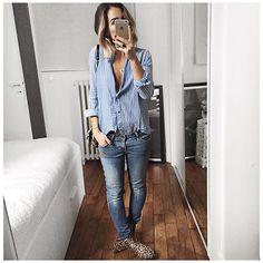 En bleu et léopard! • Necklace #pascalemonvoisin (from @pascalemonvoisin) •…