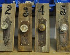 Table numbers/ centerpieces CUSTOM Rustic vintage antique door knob & skeleton key plate table numbers/centerpieces/wall hangings/home decor