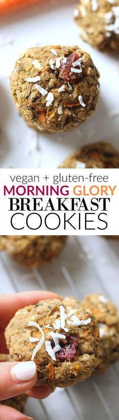 Morning Glory Breakfast Cookies...vegan, gluten-free, healthy, and flourless!
