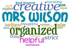 Confessions of a Teaching Junkie: End-Of-The-Year Gifts For My Kiddos...cute idea, kids write write an adjective for each classmate and the teacher made them into a word cloud and framed them!