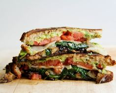loaded veggie sandwich - subtract the butter and cheese