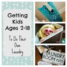 Getting Kids Ages 2-18 To Do Their Own Laundry