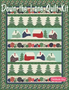 Down the Lane Quilt KitFeaturing 25th and Pine by BasicGrey | Fat Quarter Shop