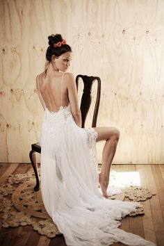 Boho lace wedding dress stunning low back and by Graceloveslace