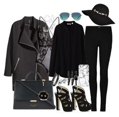 """""""Untitled #545"""" by claudiadessi on Polyvore featuring H&M, Bling Jewelry, Tiffany & Co., Ted Baker, River Island, Uniqlo, Casetify, Chanel, Calvin Klein and women's clothing"""