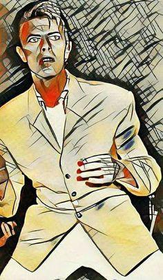 David Bowie illustration.