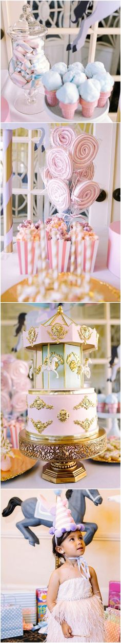 This whimsy carousel birthday party is absolutely gorgeous! From the detailed decor to the sweet treats, this party was the perfect mix of magical and fun! We are so thrilled this party was sent over