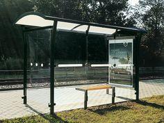 bus stop Bus Stop Design, Arch, Outdoor Structures, Garden, Longbow, Garten, Lawn And Garden, Gardens, Wedding Arches