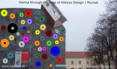 Mumok Wien, Vienna in Dots Design / Photo © Kekeye Design e. Dots Design, Vienna, Eyes, Blog, Blogging, Cat Eyes