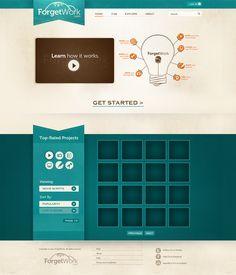 "ForgetWork.com web design by ""bxlnt / xo "" #webdesign"