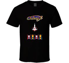 galaga arcade video game old school graphic tshirt tees
