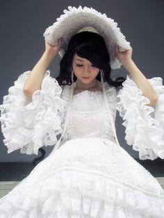 cute white lolita dress