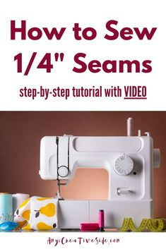 Step by step tutorial shows how to adjust your sewing machine to make accurate quarter inch seams. Learn sewing tips and helpful hints from a pro that will make all the difference when quilting. Beginner Quilt Patterns, Quilting For Beginners, Quilting Tutorials, Sewing For Beginners, Sewing Basics, Sewing Tips, Sewing Hacks, Sewing Tutorials, Sewing Projects