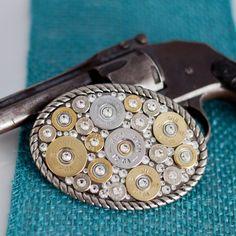 Bullet Jewelry - Bullet Belt Buckle w/ Shotgun Casings & Other Bullets