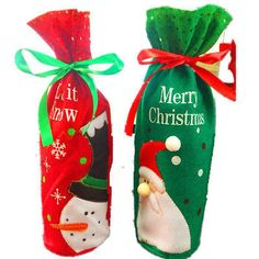 1pc Christmas Wine Bottle Bag Party Decoration Bow-Knot Snowman Christmas Tree Santa Claus Bottle Cover Bag Xmas Gift Holders #>=#>=#>=#>=#> Click on the pin to check out discount price, color, size, shipping, etc. Save and like it!