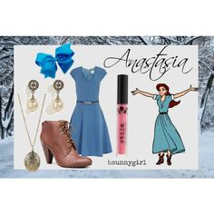 Inspired by Disney's Anastasia. Disney Princess Fashion, Disney Inspired Fashion, Disney Style, Casual Cosplay, Cosplay Outfits, Cosplay Costumes, Love Fashion, Fashion Outfits, Last Unicorn
