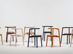 SOLO Collection By Nitzan Cohen for Mattiazzi - Solo is a furniture group including a stacking chair, cafe table, and stool. One of the first products by Mattiazzi, a new Italian brand created by Italian woodworkers who have manufactured furniture for other companies for more than 30 years, Solo is the design of Munich-based Studio Nitzan Cohen...