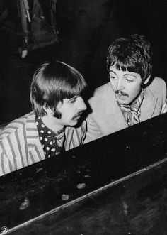 """the-cosmic-empire: """" The Beatles recording With A Little Help From My Friends, c. March Previously: George Pics: Leslie Bryce / Beat Productions """" Beatles Books, Les Beatles, Beatles Photos, Great Bands, Cool Bands, Liverpool, Is 61, Rock Groups, Ringo Starr"""