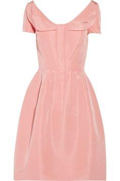Faille Dress | Oscar de la Renta Silk-faille dress | Style