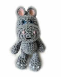 Amigurumi To Go!: Crochet Little Bigfoot Hippo Free Hippo Crochet Pattern