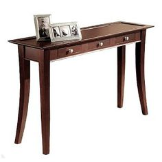 Dolce Dark Walnut 3-Drawer Console Table : Target Mobile
