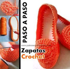 Zapatos Crochet Paso a paso - Marielbis Colmenarez - Zapatos Crochet Paso a paso. Crochet Sandals, Crochet Boots, Cute Crochet, Crochet Crafts, Crochet Yarn, Crochet Clothes, Crochet Projects, Crochet Slipper Pattern, Loafers