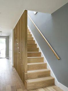 Staircase Design Modern, Timber Staircase, Oak Stairs, Home Stairs Design, Modern Stairs, Interior Stairs, Home Interior Design, House Design, Stairs In Living Room
